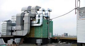 Выброс воздуха на фасад здания