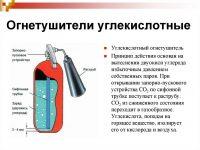 Углекислотные огнетушители назначение устройство и принцип действия