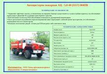 ПТВ пожарного автомобиля характеристика