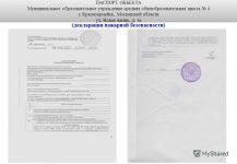 Паспорт пожарной безопасности образовательного учреждения
